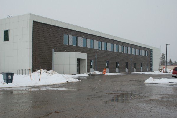 The new, 79,000-square-foot Molnlycke Health Care facility at Brunswick Landing in this March 2013 file photo.