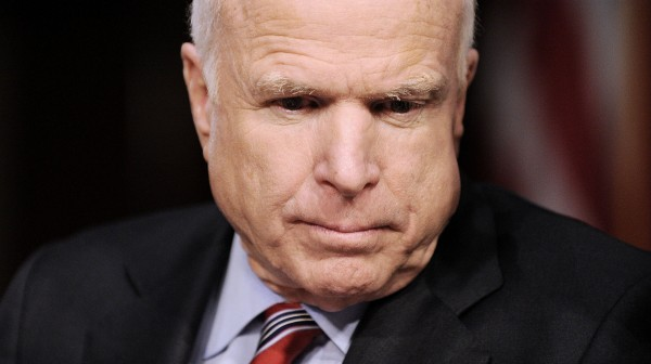 Senator John McCain attends the Senate Foreign Relations Committee on Tuesday to argue the Obama administration's case for using military force in Syria on Capitol Hill September 3, 2013 in Washington, D.C.