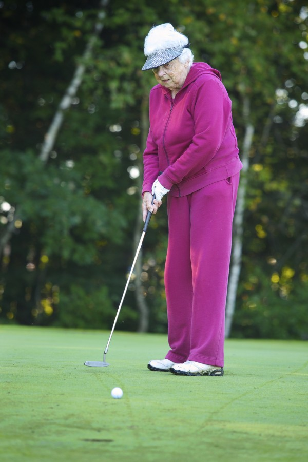 Hilda Wardwell, 90, is the oldest actively competitive golfer in the Women's Maine State Golf Association.