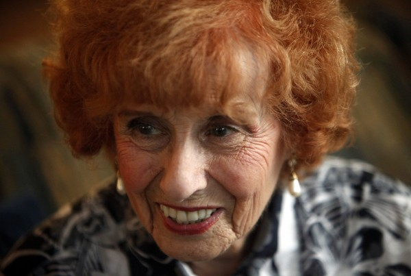Elinor Otto, 93, sits in the living room of her home in Long Beach, California, on August 28, 2013. Otto is believed to be the oldest &quotRosie the Riveter&quot still working in the local area. Otto believes hard work has contributed to her long life.