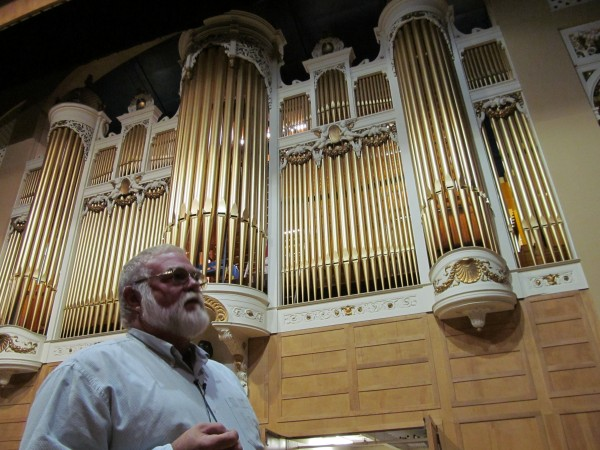John Bishop, head of the Friends of the Kotzschmar Organ's organ committee, describes the $2.5 million renovation of the century-old musical instrument.