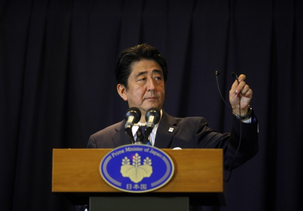 Japan's Prime Minister Shinzo Abe in this 2013 file photo.
