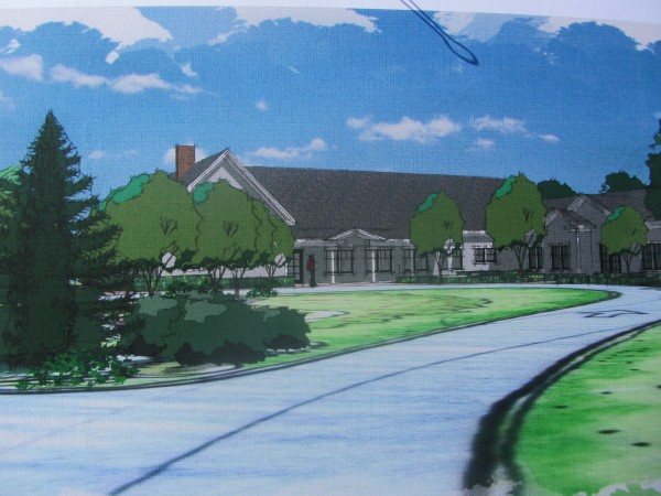 Groundbreaking ceremonies were held Sunday afternoon for the Pen Bay Healthcare hospice house in Rockport. The new hospice house, seen in this artist's rendition, is located adjacent to Pen Bay Medical Center off Route 1 in Rockport.