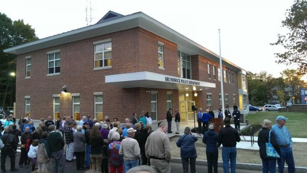On Sept. 25, a large crowd gathered outside to celebrate the opening of Brunswick's new police station on the corner of Pleasant and Stanwood streets.