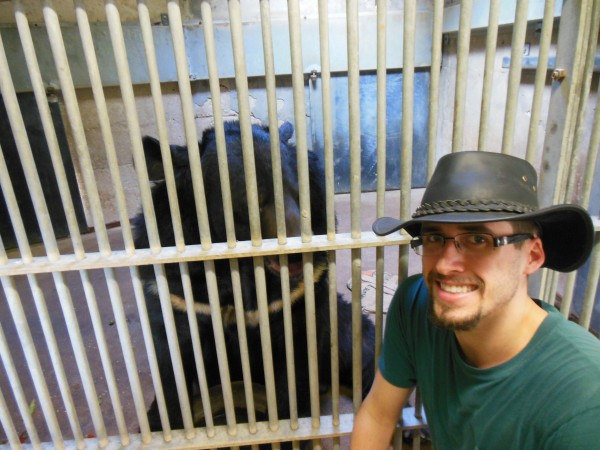 Derrick Maltman, 21, spent his summer at an internship at the Zoological Center of Tel Aviv-Ramat Gan.
