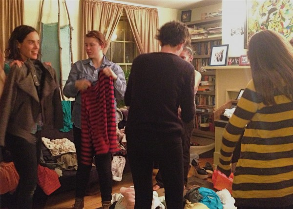 Clothing swaps held in homes and public spaces are all the rage in Portland. Friends clean out their closets and update their look for free.