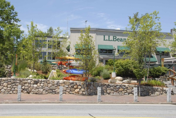 L.L. Bean stores and outdoor displays abut Main Street in Freeport in this June 2013 file photo.
