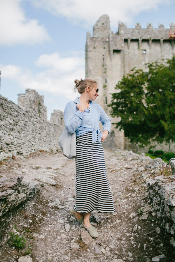 Sarah Carter Hill enjoys the grounds near Blarney Castle during a July trip to Ireland. Hill's sister, Emily Delamater, won the vacation in a photography contest.
