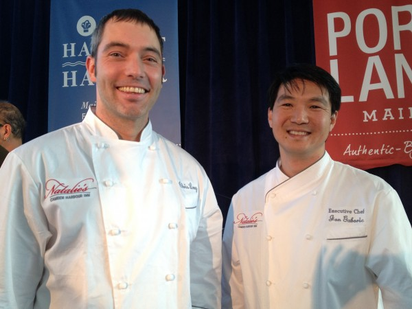 Chefs Chris Long and Jon Gaboric of Natalie's at the Camden Harbour Inn will duke it out for Maine Lobster Chef of the Year at Harvest on the Harbor, Oct. 23 to 26 in Portland.