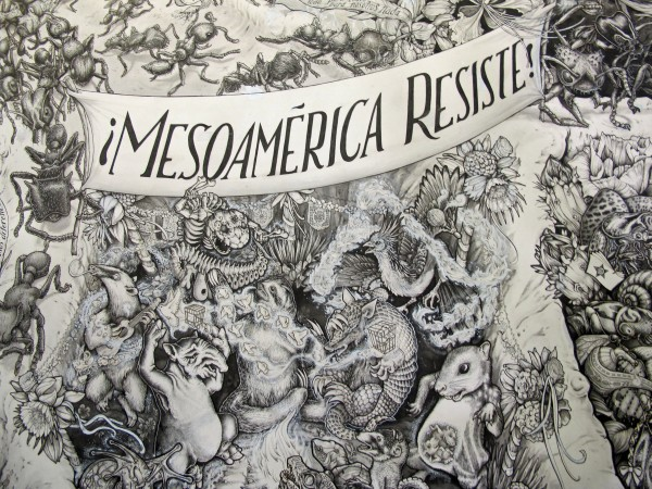 This 2012 file photo shows a detailed portion of the Beehive Design Collective's &quotMesoamerica Resiste.&quot