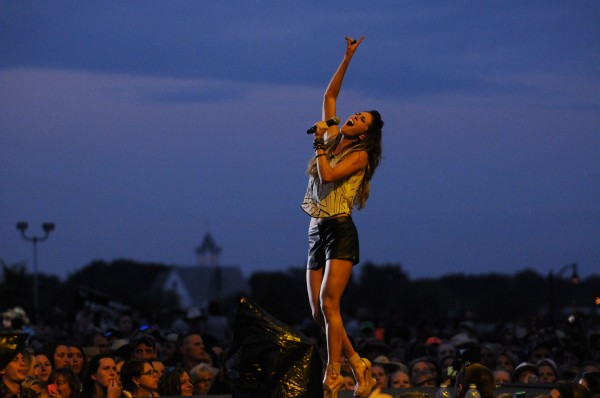 Kelleigh Bannen opens for Luke Bryan at the Darling's Waterfront Pavilion along the Bangor Waterfront on Saturday.