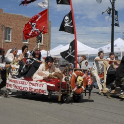 Pirates large and small at Pirate Rendezvous on June 22