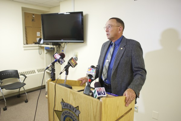 Penobscot County Sheriff Glenn Ross held a press conference Tuesday afternoon releasing information about a home invasion that occurred Monday evening in Orrington by two masked men with a weapon and the attempted robbery of a grocery store.