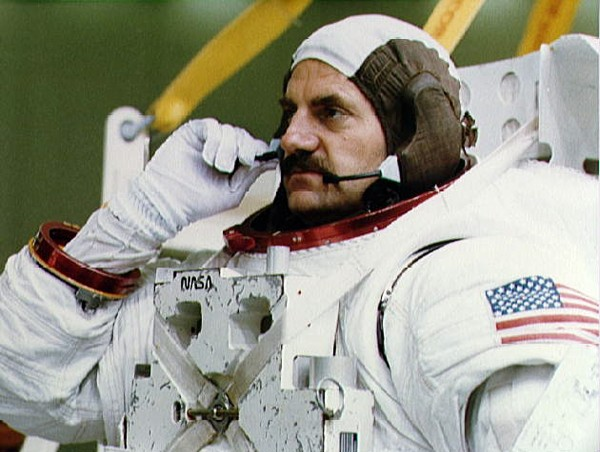 James Van Hoften, pictured here in the 1980s during his time as a NASA astronaut, has joined Cianbro's board of directors.
