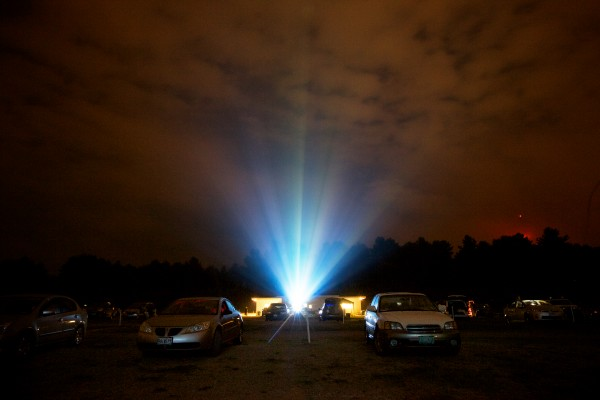 Cars line the grounds at the Saco Drive-In where movies have been lighting up summer nights since 1939. The theater is the second-oldest operational drive-in in the country.