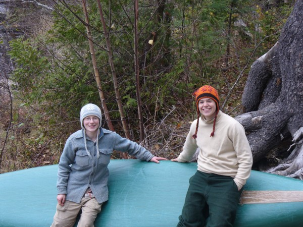 Becca (left) and Lill (right) at their second resupply rendezvous at Whetstone Falls.