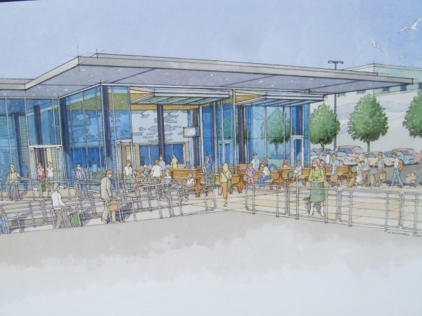 This rendering by Scott Simons Architects and Landry/French Construction Co. depicts how the Casco Bay Lines ferry terminal will look after $2.5 million in renovations.