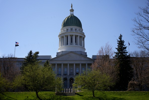 The State House in Augusta. A temporary increases to the sales and lodging taxes take effect statewide Tuesday, Oct. 1.