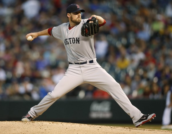 Boston Red Sox pitcher John Lackey has enjoyed considerably more success at Fenway Park this season than he has on the road.