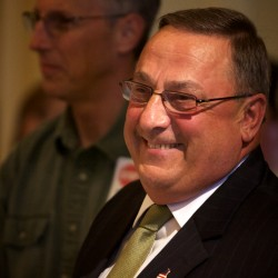 How much did LePage go off script? Compare his prepared remarks to what he actually said