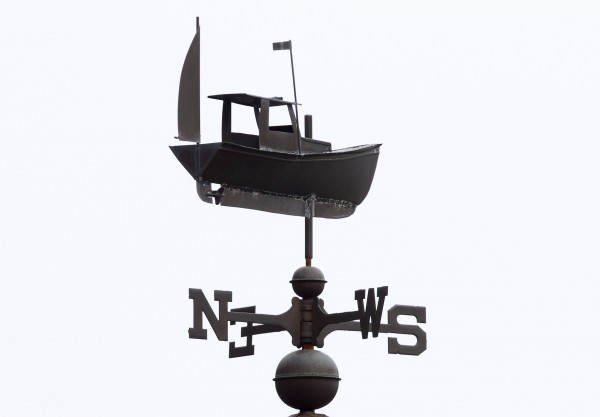 A lobster boat weather vane in Ogunquit.