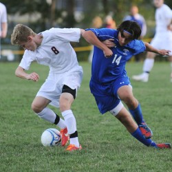 Bach scores twice to lift Bangor boys soccer team to EM quarterfinal win over Lawrence