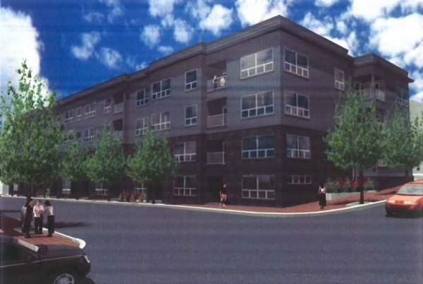 This rendering, provided to the Portland Planning Board by developer 113 Newbury Street LLC, depicts the second phase of the Bay House project in Portland's India Street neighborhood. The 39-unit residential building would be constructed on the corner of the Newbury and Hancock streets.