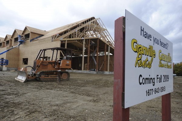 Granville Rental and Granville Home & Hearth are shown under construction in 2009 in Holden.