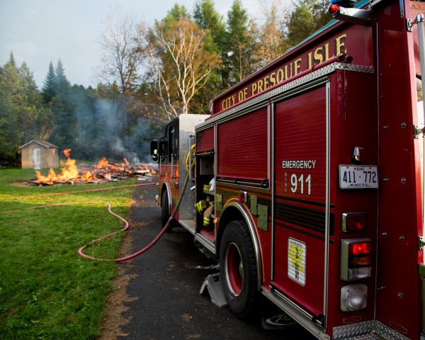 The Presque Isle Fire Department fought a fire at 215 Conant Road in Presque Isle on Wednesday.