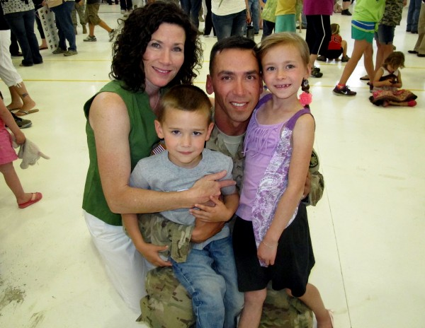 The O'Kresik family at the 488th Military Police Company's return home in June.