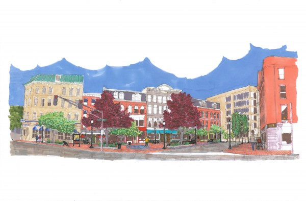 An artist's rendering of the West Market Square project.