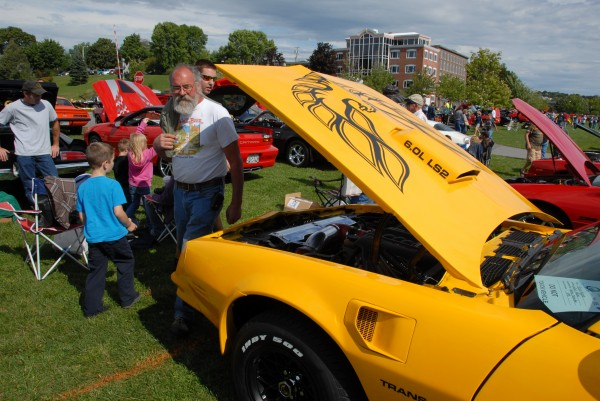 A yellow 1978 Pontiac Trans Am owned by Bryan Higgins of Levant attracted the attention of passersby during the Sixth Annual Bangor Car Show, held Sept. 7 at Bangor Waterfront Park.