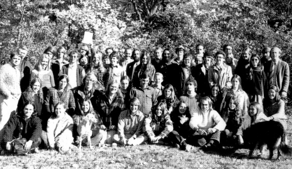 COA's first graduating class, 1976. Photo courtesy of College of the Atlantic Archives.