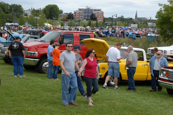 A good-sized crowd turned out to inspect the vehicles displayed Sept. 7 at Bangor Waterfront Park during the Sixth Annual Bangor Car Show, which was hosted by the Greater Bangor Visitors & Convention Bureau. More than 100 automobiles were displayed during the show.