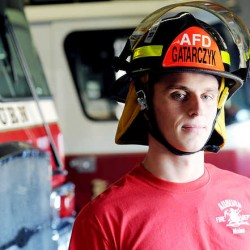 Pawel Gatarczyk, 21, from the country of Poland, will be based in Auburn as he trains with various Maine fire departments as a cadet from the Main School of Fire Service, the top academy for Poland's national firefighting service.