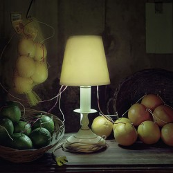 "Caleb Charland, ""Fruit Battery Still Life (citrus)"", photograph"