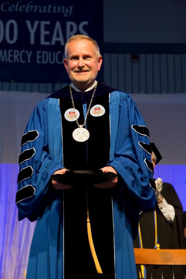 St. Joseph's College President James Dlugos. (Photo by Jeff Scher.)