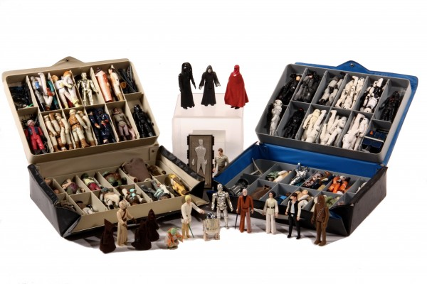 Lot including 93 Star Wars action figures to be sold in Thomaston Place Auction Galleries Rare Coin & Toy Auction on September 19