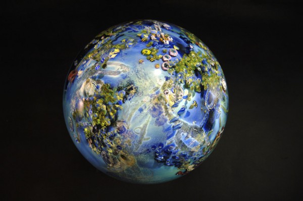One of Simpson's elaborate planets. Photo courtesy of Josh Simpson, Contemporary Glass.