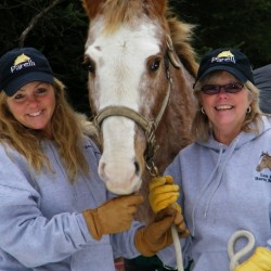 "Nona & Joyce ""Sisters saving horses with the support of many""."
