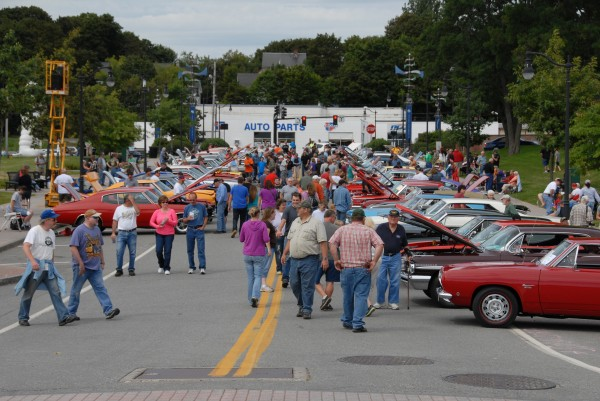 Railroad Street in Bangor was filled with display cars and auto enthusiasts during the Sixth Annual Bangor Car Show.