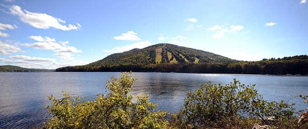 Shawnee Peak Ski Area along Route 302 near the New Hampshire border is a major draw for tourists in the winter months.