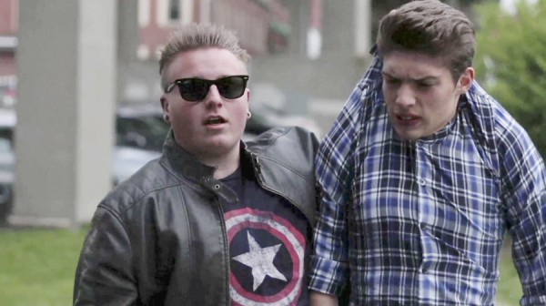 Daniel Rice of Winterport (right) is one of two actors involved in a scene from the short film &quotMy Roommate Joe,&quot which took the top prize at the 2013 Maine Student Film and Video Festival.
