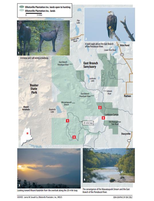 Elliotsville Plantation Inc. map of lands