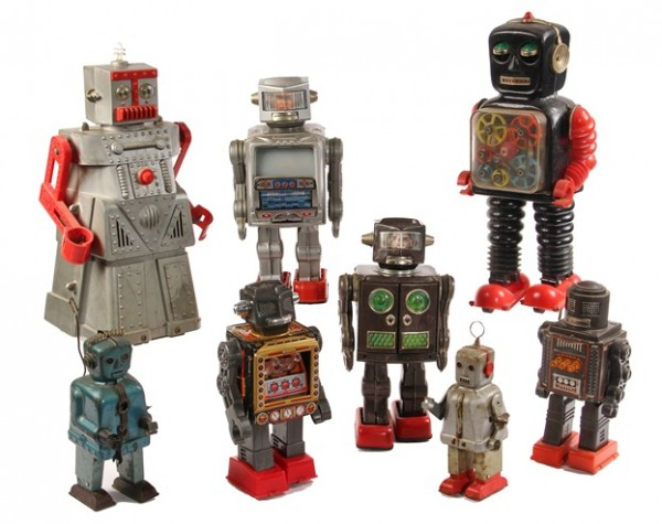 Group of Toy Robots to be offered at Thomaston Place Auction Galleries Rare Coin & Toy Auction on September 19