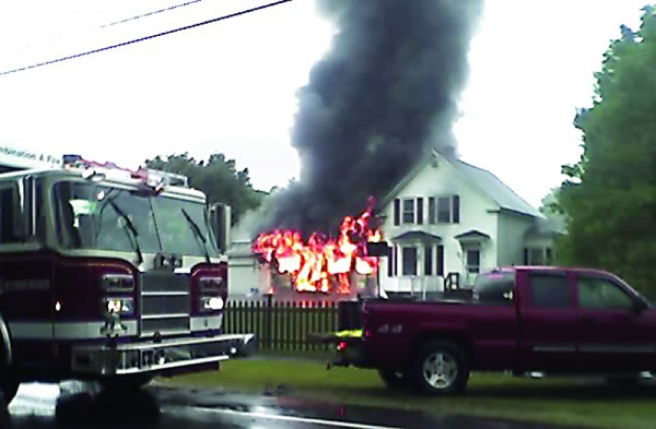 A fire damaged an Alfred Road home Monday and killed two pets.