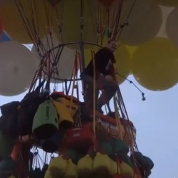 Record-setting balloonist back in Caribou 25 years later