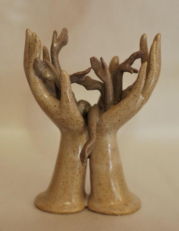 Don't Let Go #1, Ceramic Sculpture, Jeff Spencer