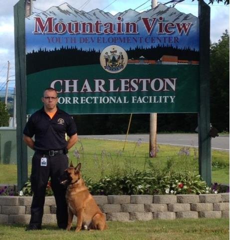 K9 Gunner and handler Officer Troy Hood