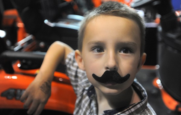 Nathanial Paradis, 6, of Bangor was among the people who visited the first BDN Man Expo Saturday at the Cross Insurance Center.